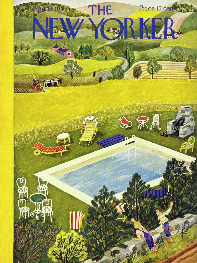New Yorker August 10th 1946 Painting by Ilonka Karasz