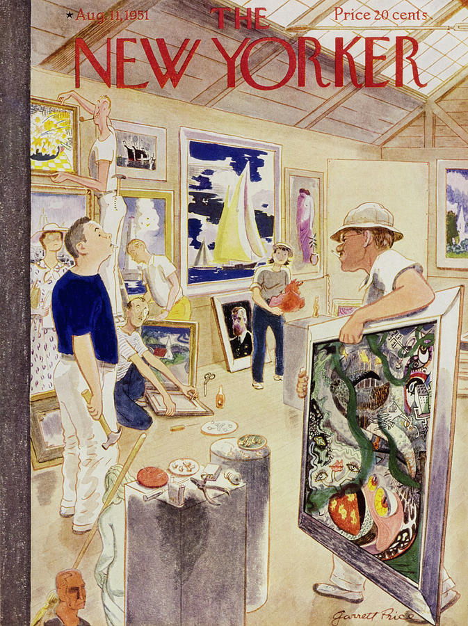 New Yorker August 11, 1951 Painting by Garrett Price