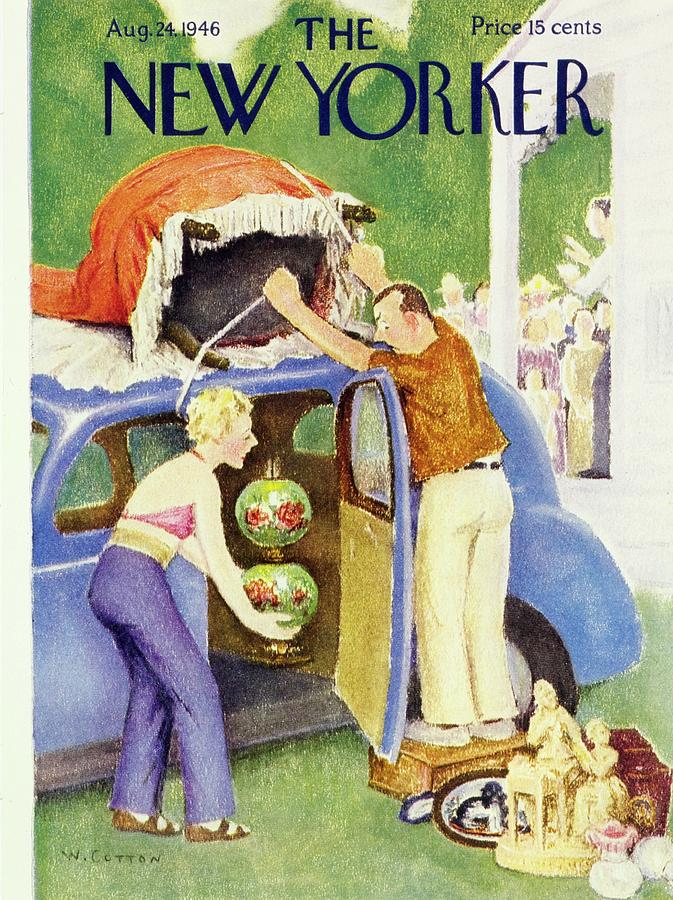 New Yorker August 24th 1946 Painting by William Cotton