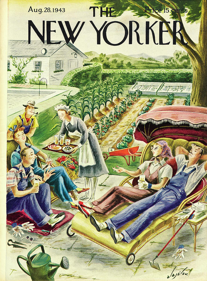 New Yorker August 28 1943 Painting by Constantin Alajalov