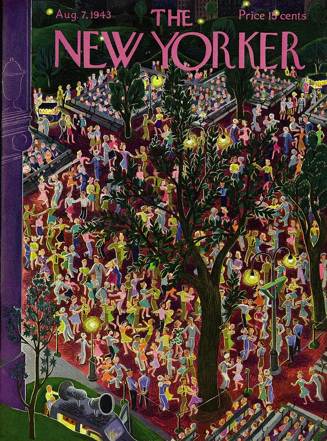 New Yorker August 7, 1943 Painting by Ilonka Karasz