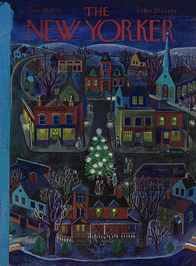 New Yorker December 15, 1951 Painting by Ilonka Karasz