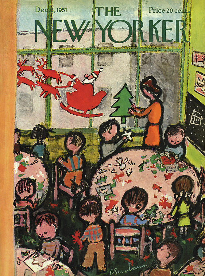 New Yorker December 8, 1951 Painting by Abe Birnbaum