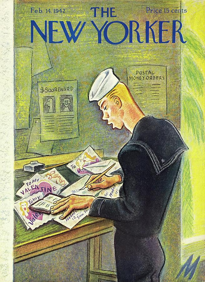 New Yorker February 14th 1942 Painting by Julian De Miskey