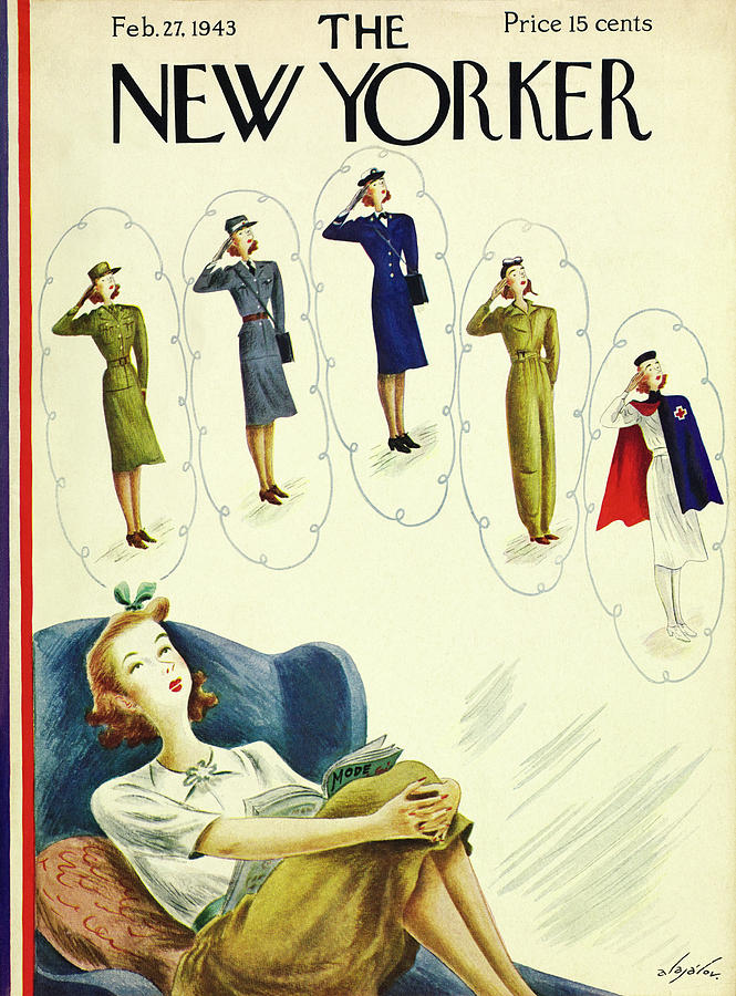 New Yorker February 27th 1943 Painting by Constantin Alajalov