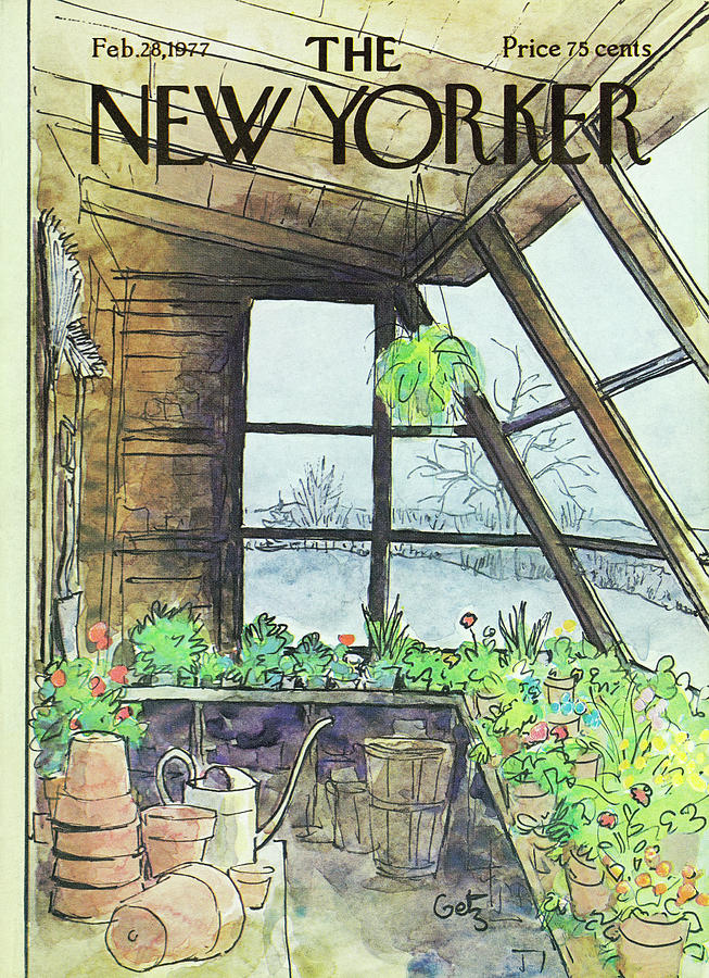 New Yorker February 28th 1977 Painting by Arthur Getz