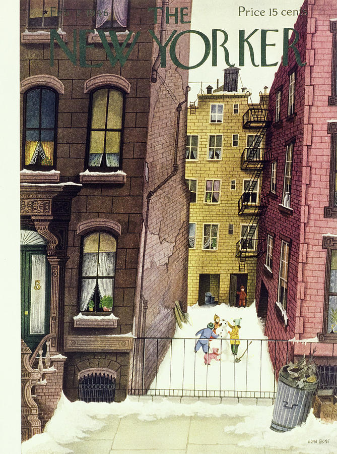 New Yorker February 2, 1946 Painting by Edna Eicke