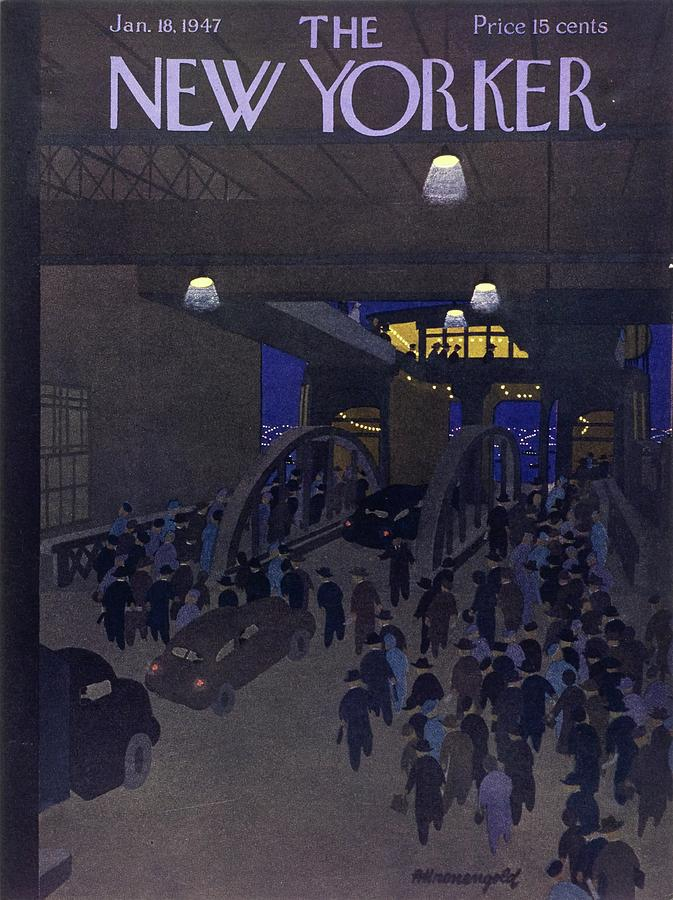 New Yorker January 18, 1947 Painting by Arthur K Kronengold