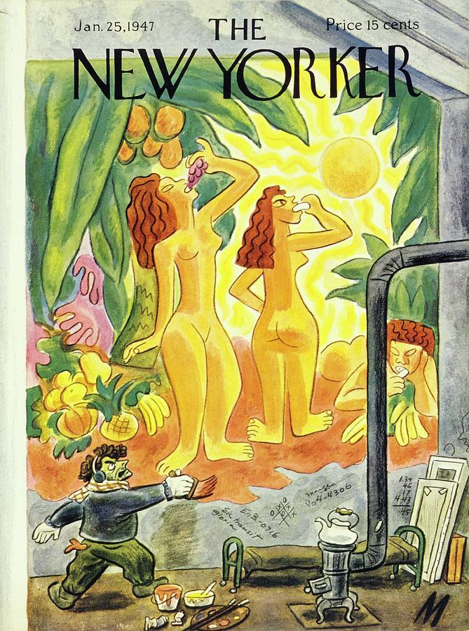 New Yorker January 25th 1947 Painting by Julian De Miskey