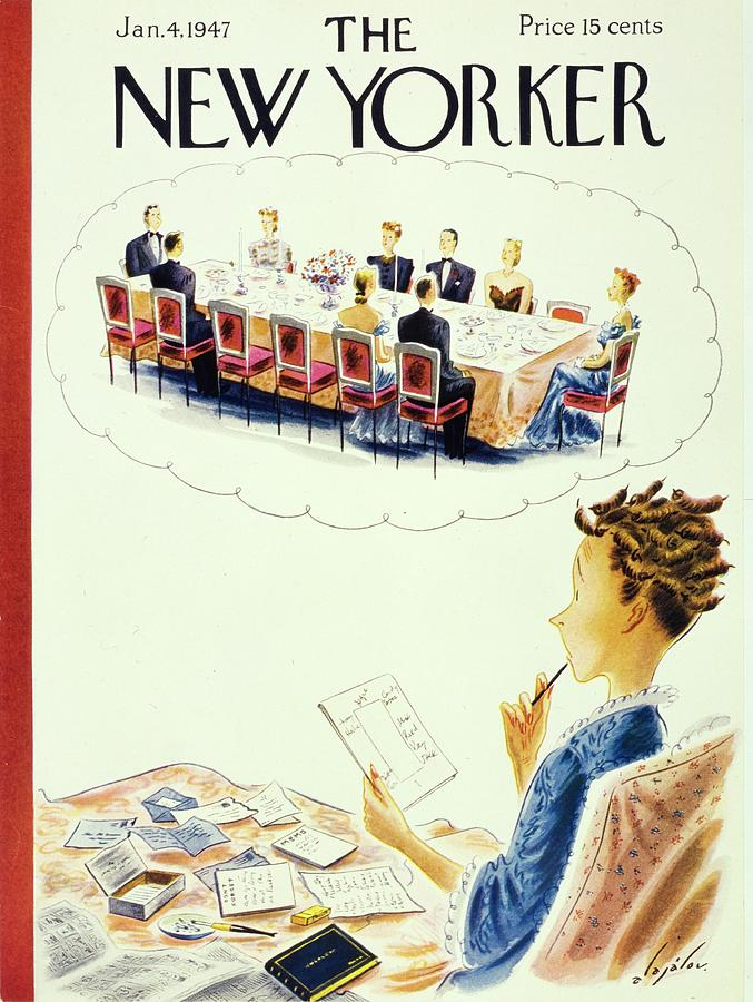New Yorker January 4, 1947 Painting by Constantin Alajalov