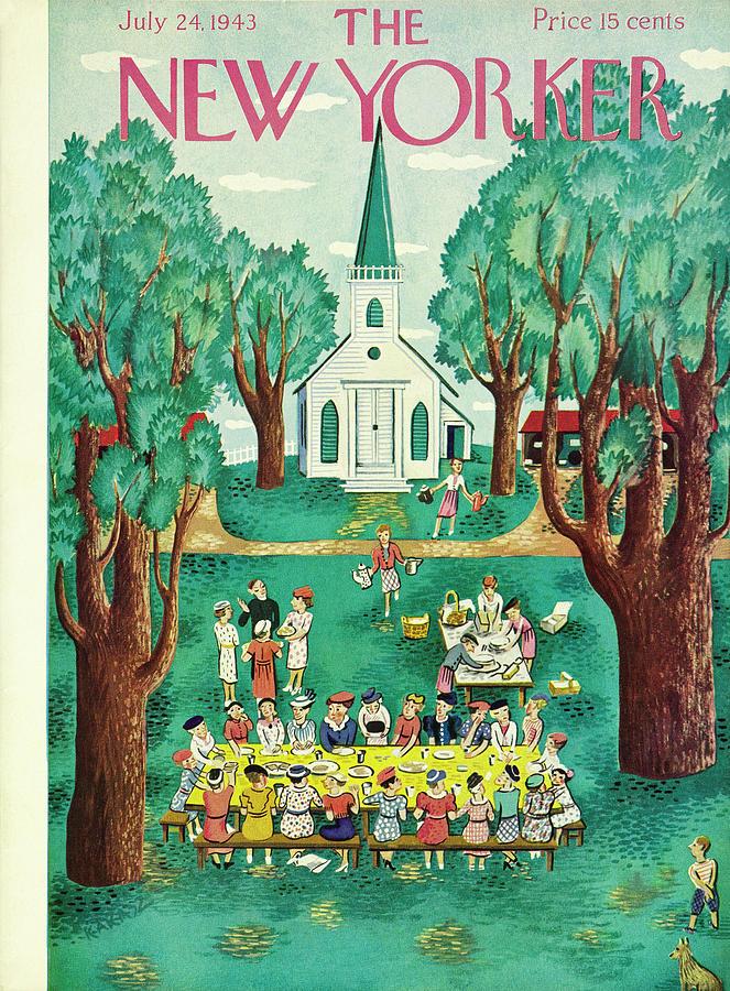 New Yorker July 24 1943 Painting by Ilonka Karasz