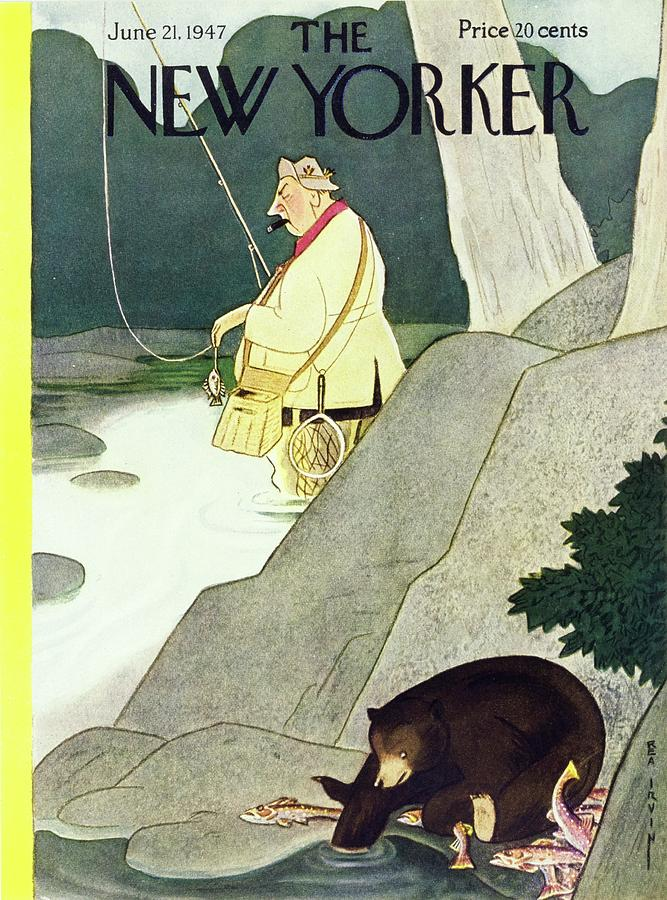 New Yorker June 21st 1947 Painting by Rea Irvin