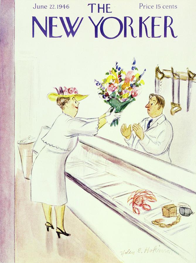 New Yorker June 22nd 1946 Painting by Helene E Hokinson