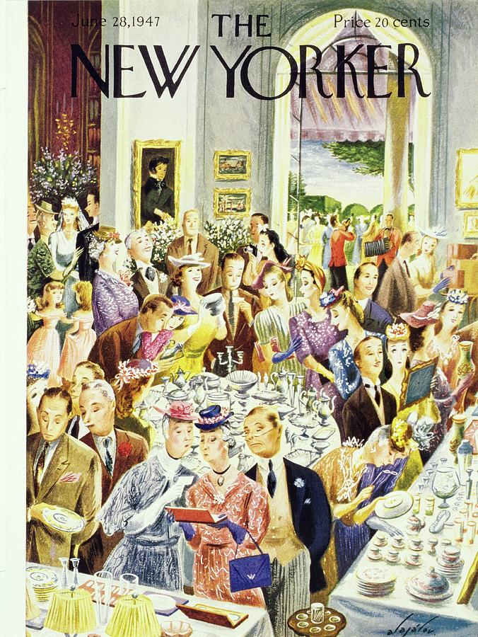 New Yorker June 28th 1947 Painting by Constantin Alajalov