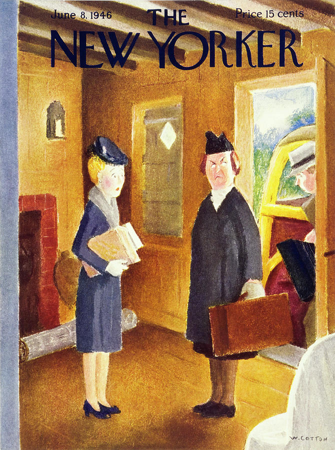 New Yorker June 8th 1946 Painting by William Cotton