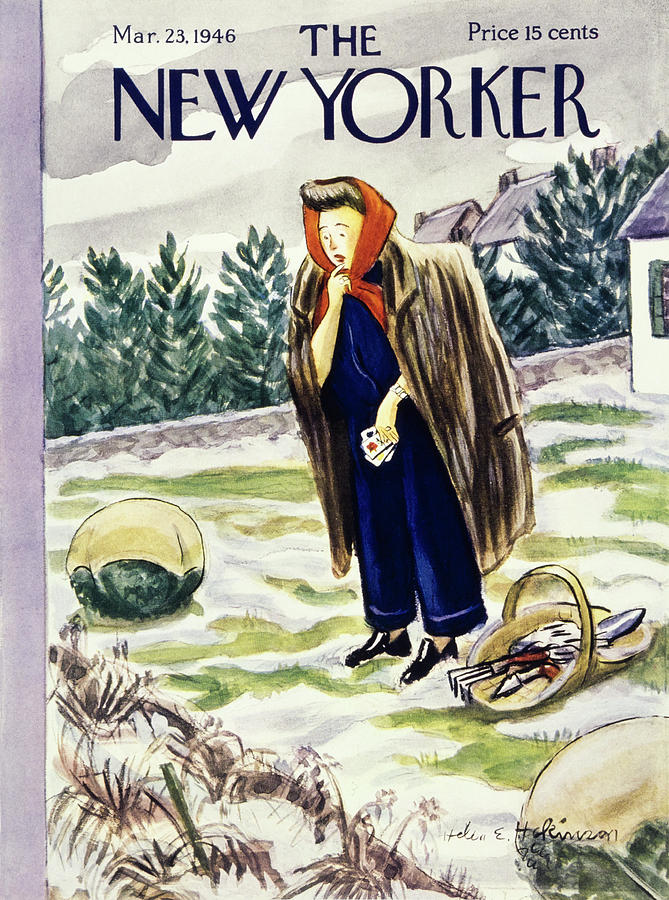 New Yorker March 23rd 1946 Painting by Helene E Hokinson