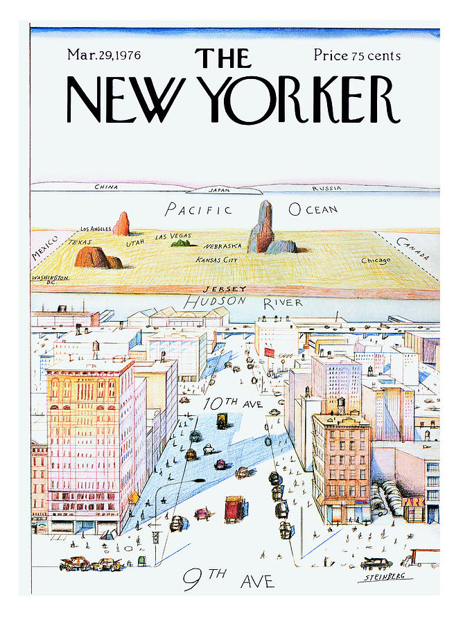 Steinberg Painting - New Yorker March 29, 1976 by Saul Steinberg