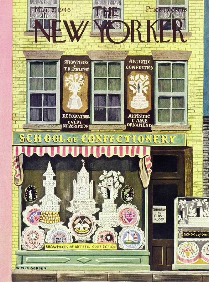New Yorker March 2, 1946 Painting by Witold Gordon