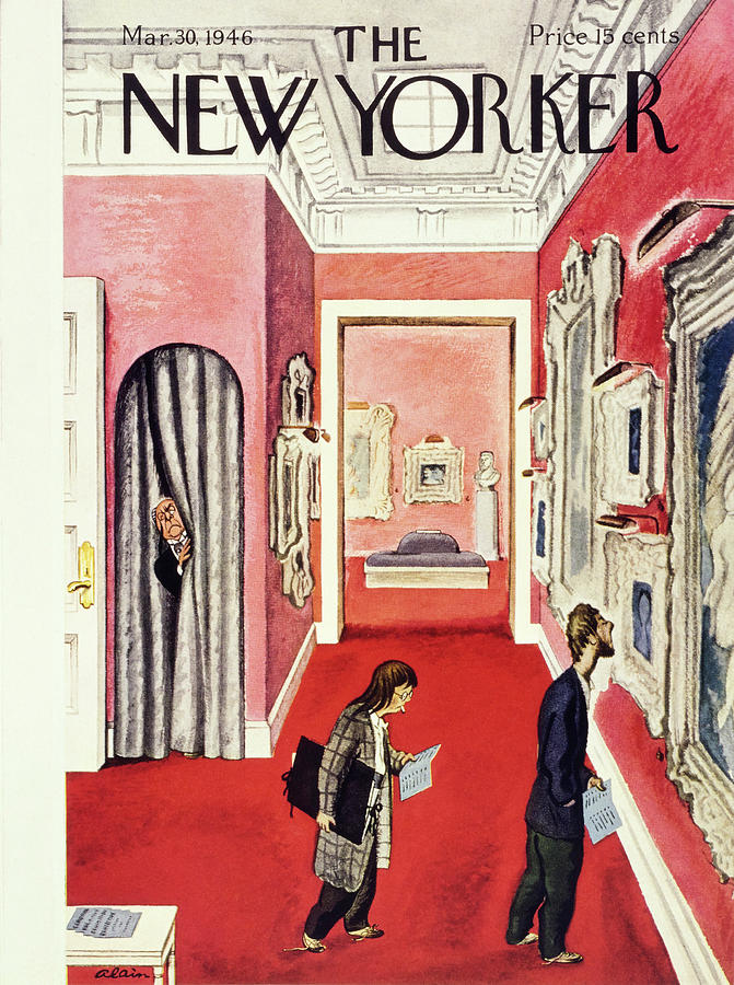 New Yorker March 30th 1946 Painting by Daniel Brustlein