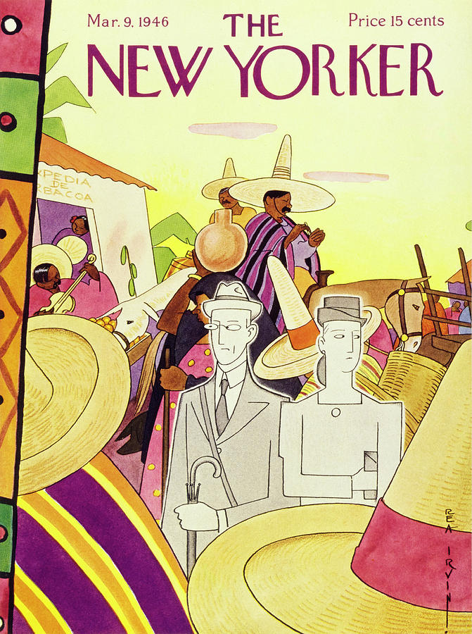 New Yorker March 9th 1946 Painting by Rea Irvin