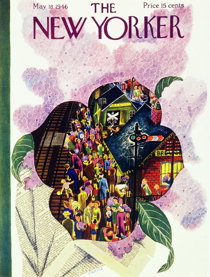 New Yorker May 18 1946 Painting by Ilonka Karasz