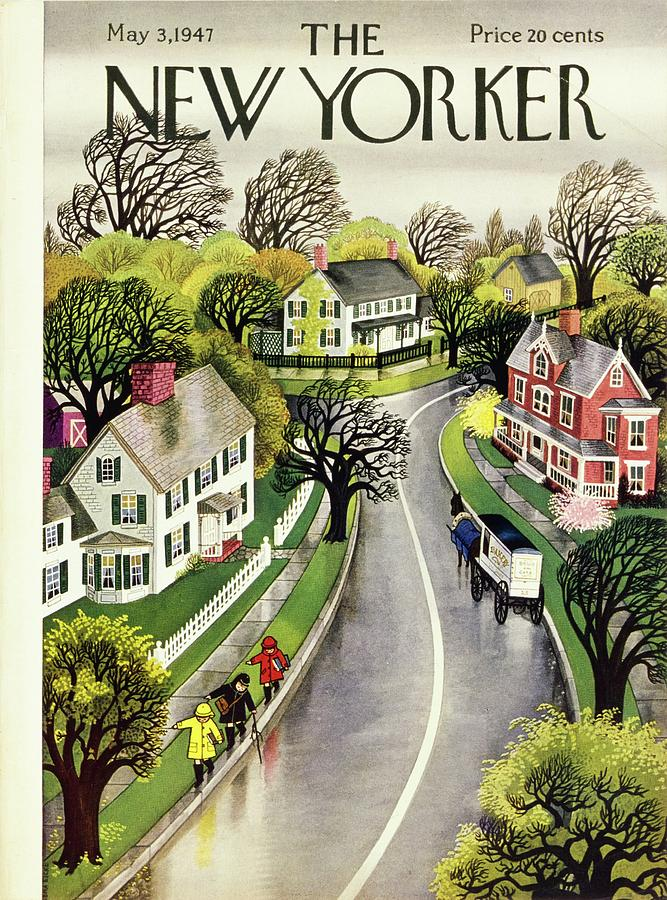 New Yorker May 3rd 1947 Painting by Edna Eicke