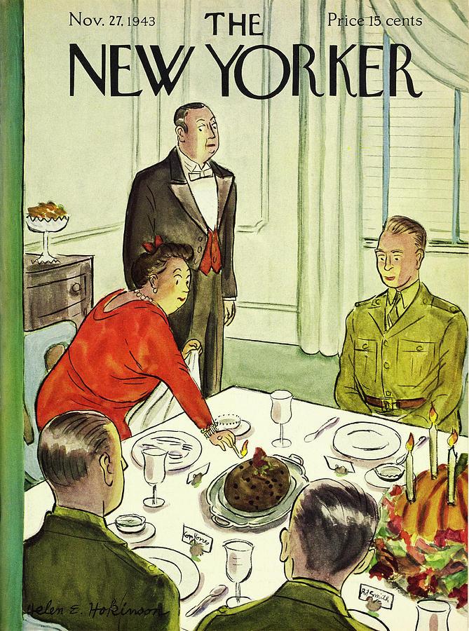 New Yorker November 27th 1943 Painting by Helene E Hokinson