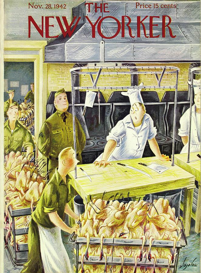 New Yorker November 28 1942 Painting by Constantin Alajalov
