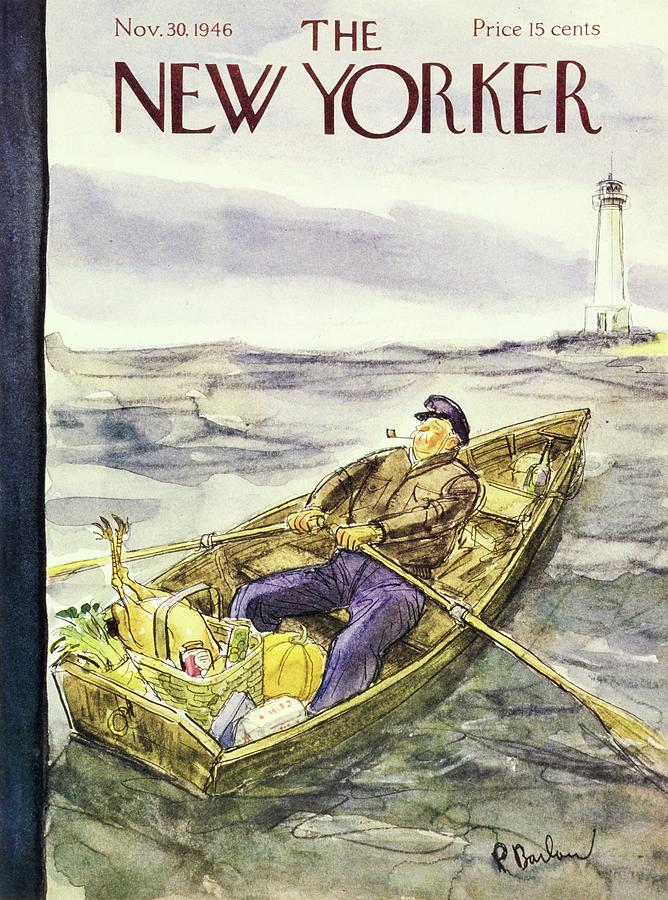 New Yorker November 30 1946 Painting by Perry Barlow