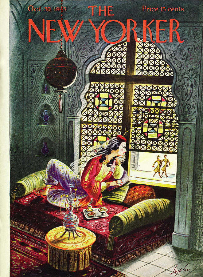 New Yorker October 30th 1943 Painting by Constantin Alajalov