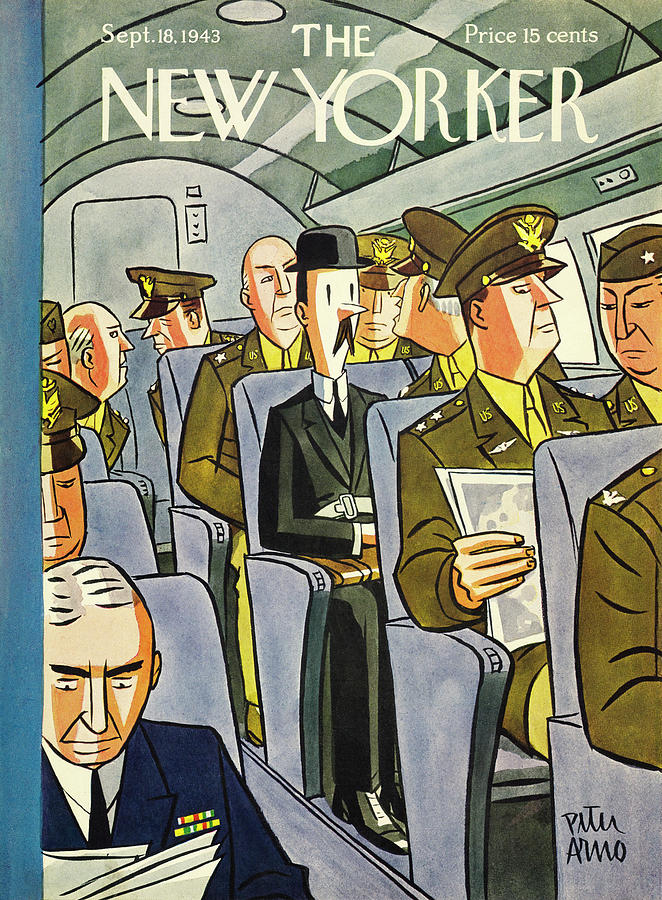 New Yorker September 18th 1943 Painting by Peter Arno