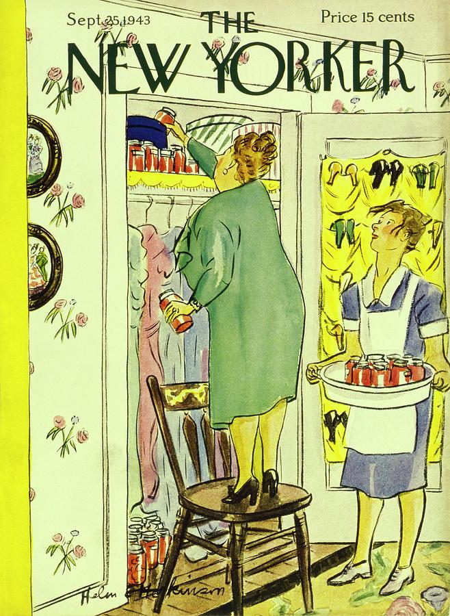 New Yorker September 25 1943 Painting by Helene E Hokinson