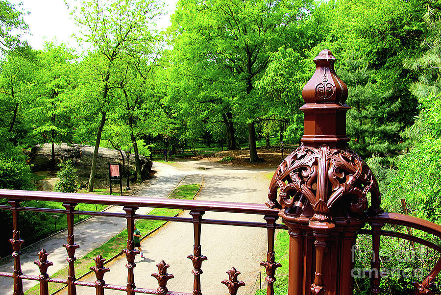 Central Park Mixed Media - New Yorks Central Park Winterdale Arch Railing Cast Iron Art by Zal Latzkovich