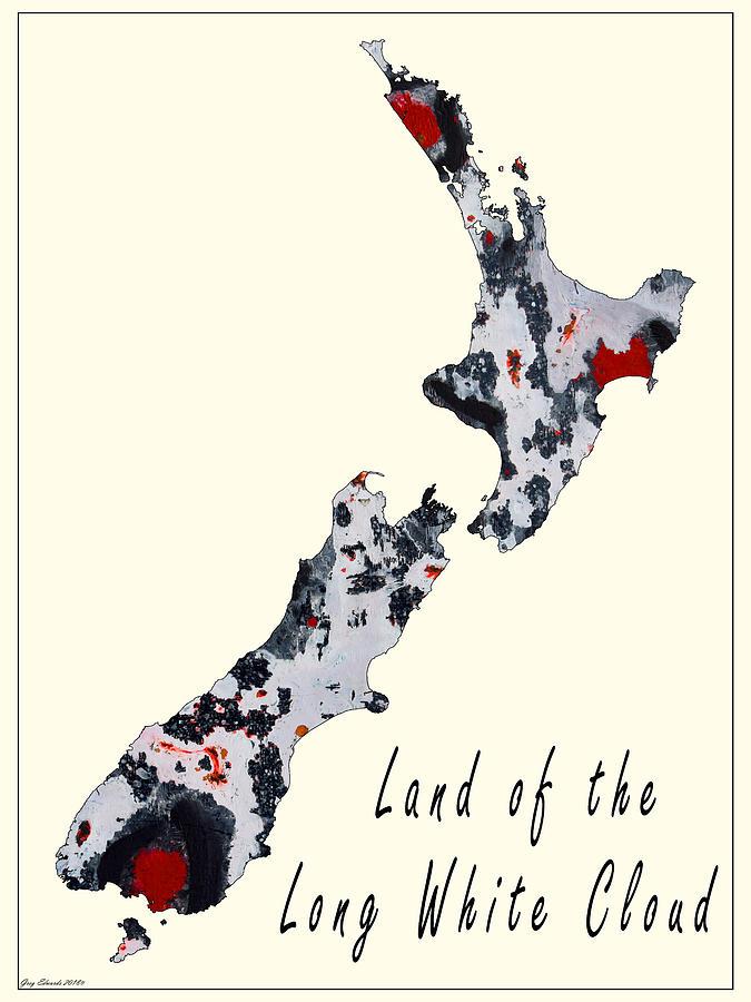 New Zealand Art Map Style 7 by Greg Edwards