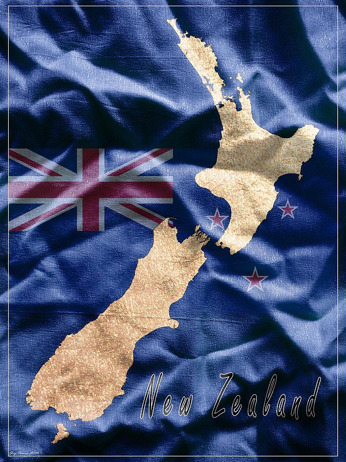 New Zealand Art Map Style 9 by Greg Edwards