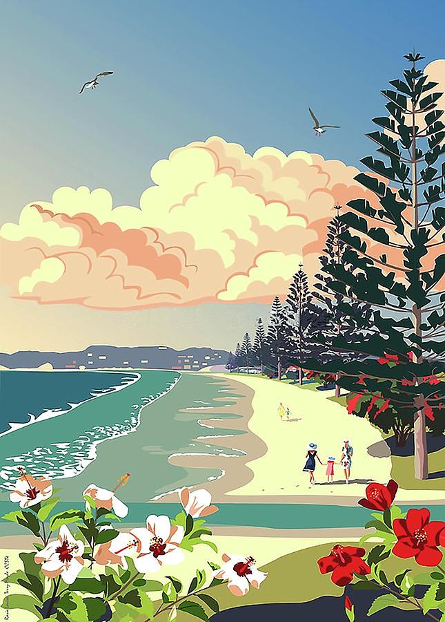 New Zealand Orewa Beach Digital Art by Illidan Raven
