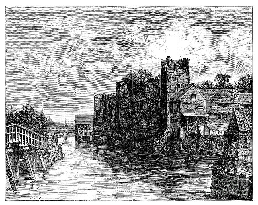 Newark Castle And The River Trent Drawing by Print Collector