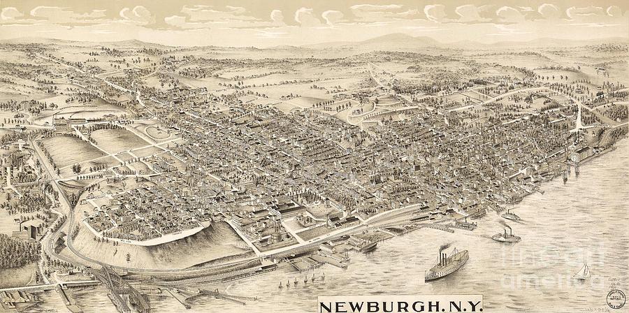 Newburgh NY Birds Eye View by Joe Santacroce