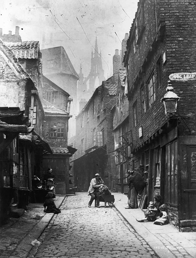 Newcastle Slum Photograph by Lyddel Sawyer