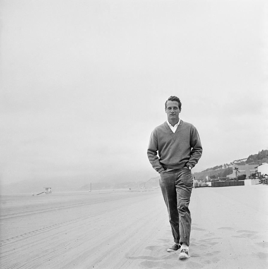 Newman On The Beach Photograph by Hulton Archive