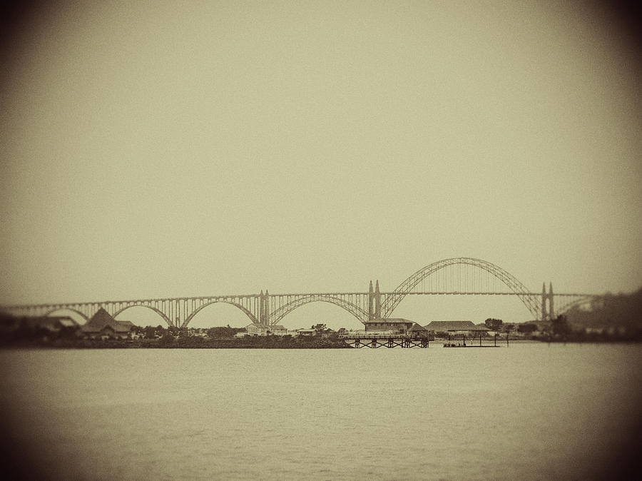 Newport Oregon Bridge by Rebecca Cozart