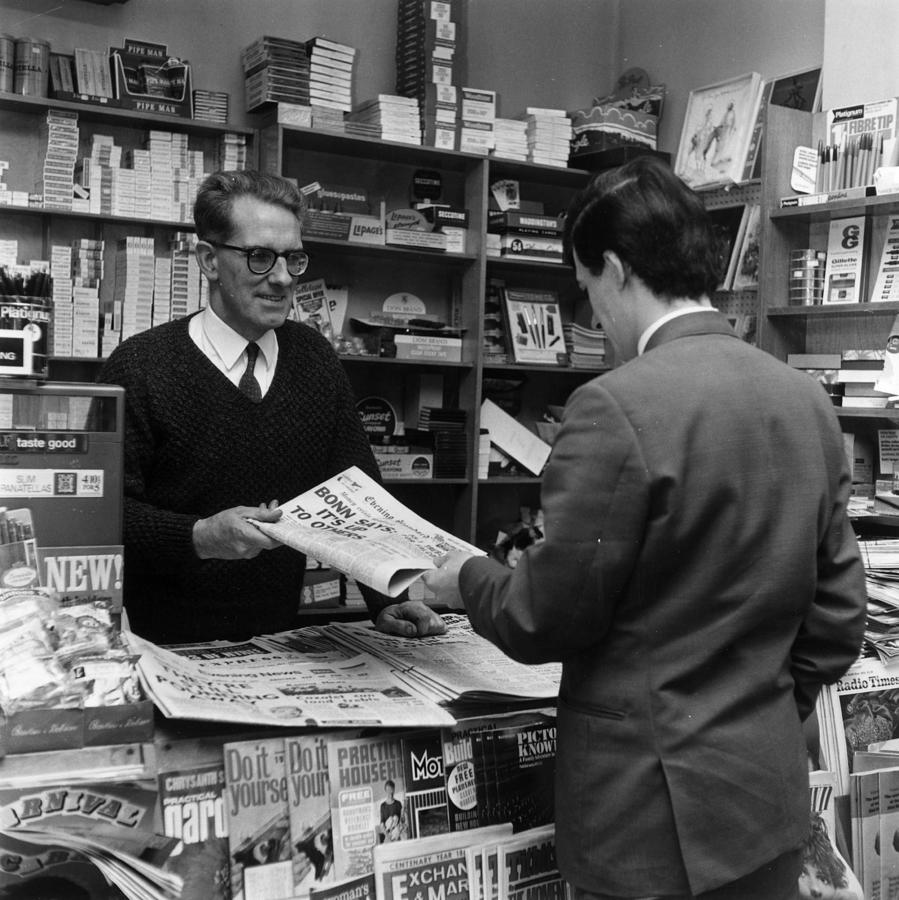 Newsagents Photograph by Evening Standard