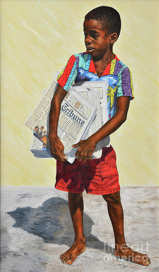 Newspaper Boy by Nicole Minnis