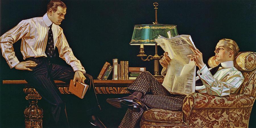Joseph Christian Leyendecker Painting - Newspaper - Digital Remastered Edition by Joseph Christian Leyendecker