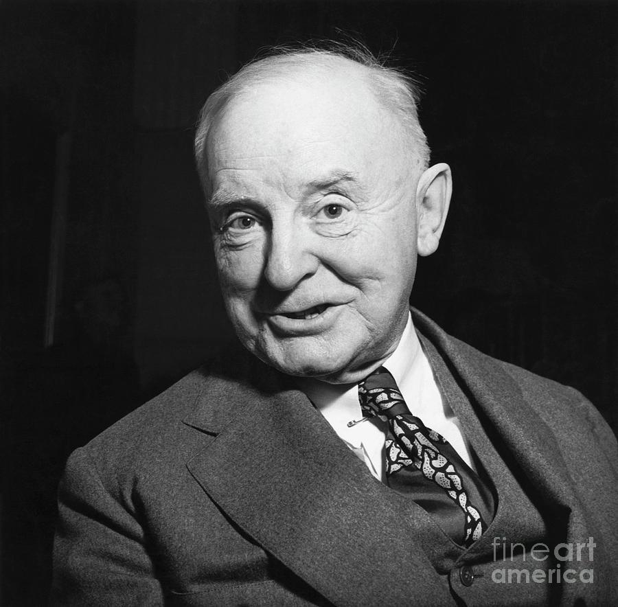 Newspaper Editor William A. White Photograph by Bettmann