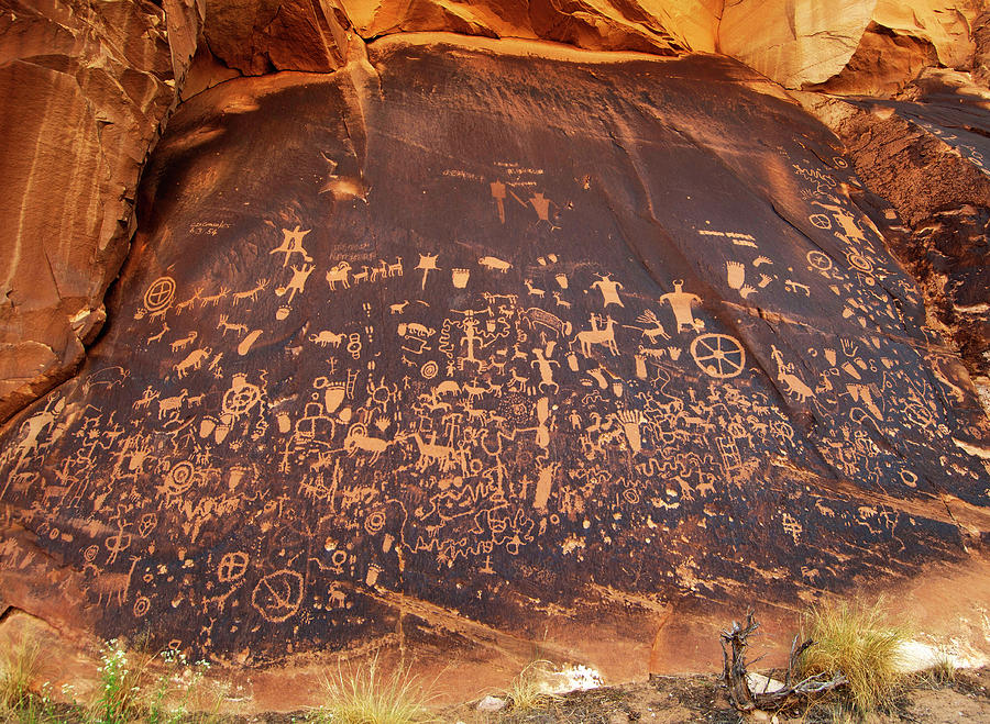 Newspaper Rock  Cropped by Ron Brown Photography