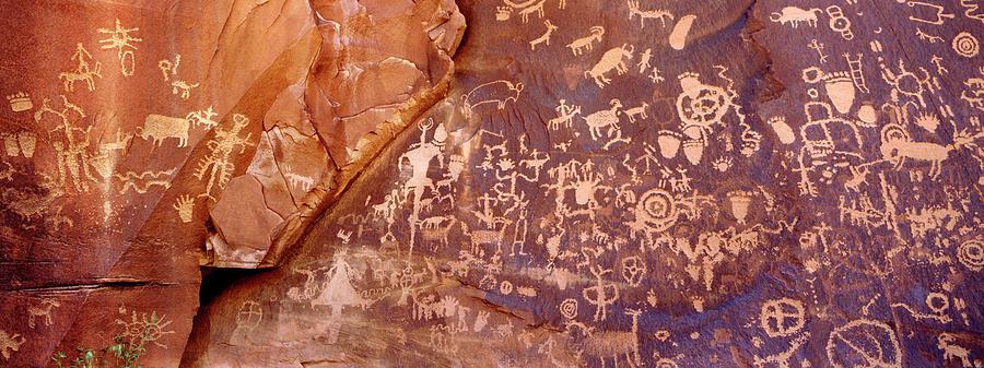 Newspaper Rock Petroglyphs, Utah Photograph by Rob Atkins