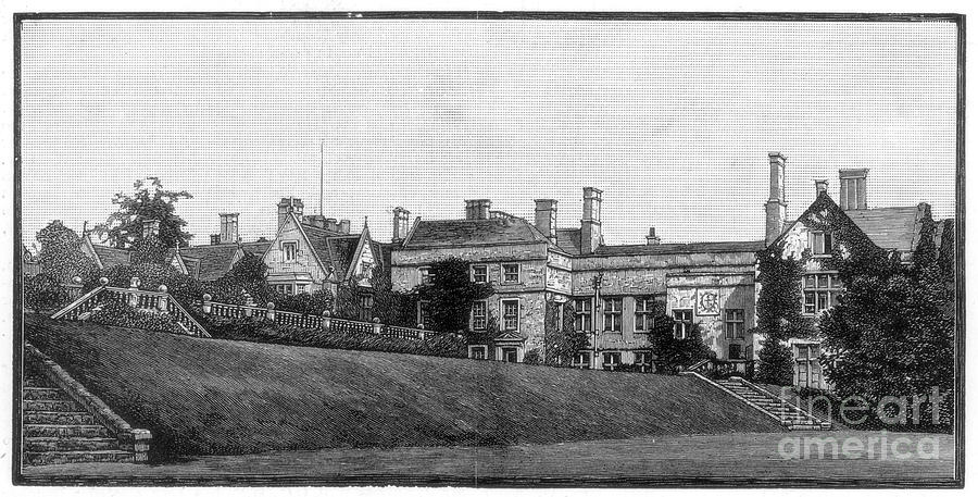 Newstead Abbey, Nottinghamshire, 1888 Drawing by Print Collector