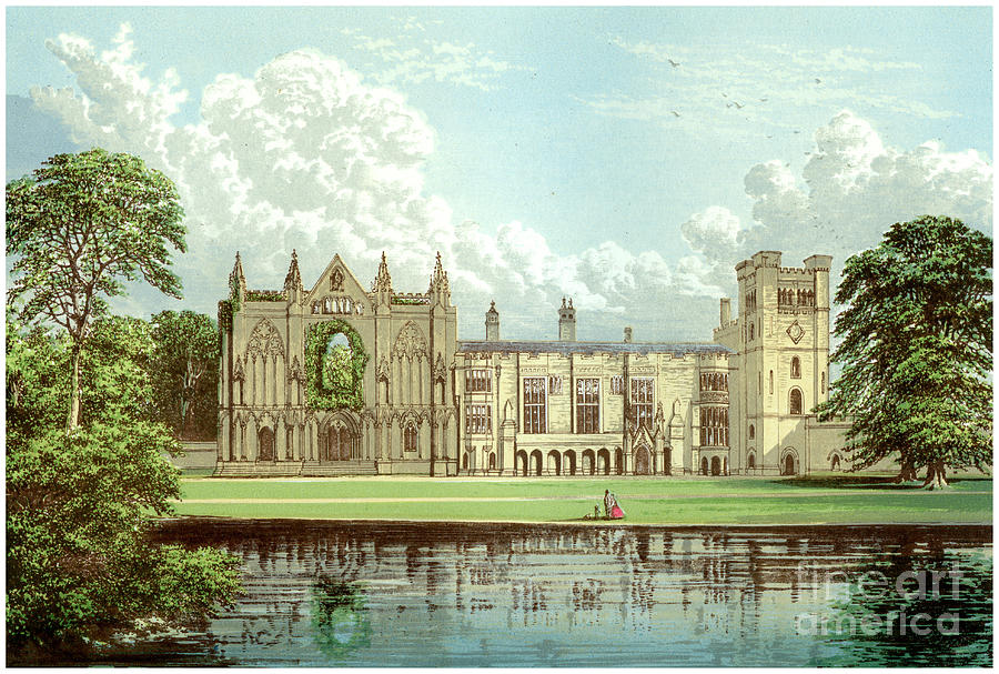 Newstead Abbey, Nottinghamshire, Home Drawing by Print Collector