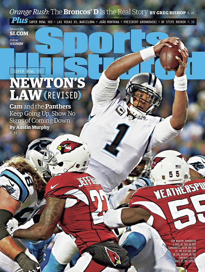 Newtons Law Revised Cam And The Panthers Keep Going Up Sports Illustrated Cover Photograph by Sports Illustrated